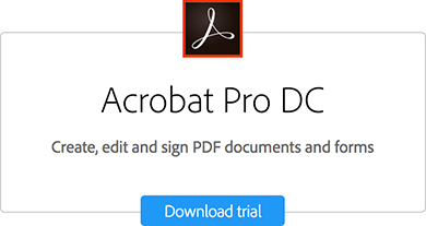 Acrobat Pro Download trial