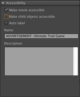 Accesible movie elements