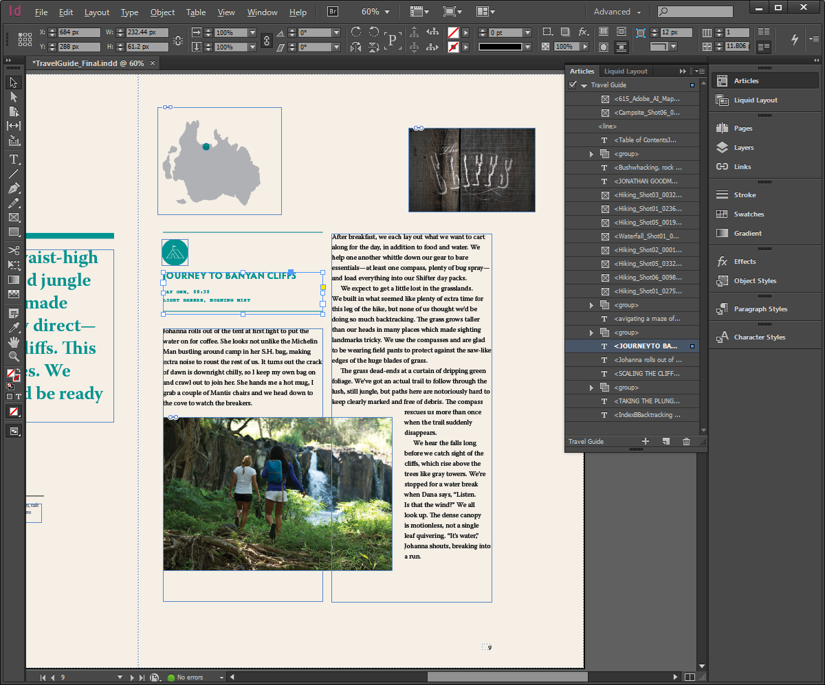 InDesign Articles panel