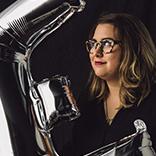 Headshot of Erica Larson - Adobe associate creative art director, designer