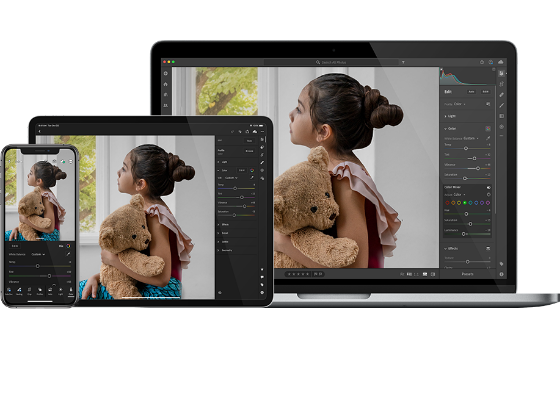 Redigera dina bilder var som helst med Adobe Photoshop Lightroom.