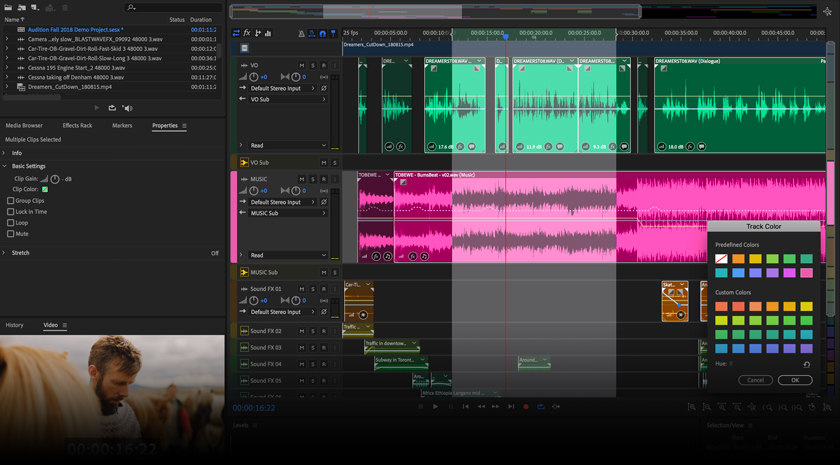 Add sound effects to your audio project in Adobe Audition