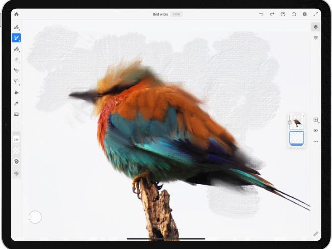 Aproveite o Fresco ao máximo com o Photoshop no iPad.