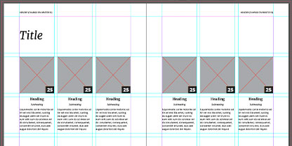 Design your brochure layout with guides to ensure correct printing.