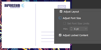 Adjust your postcard text and graphics for any printer
