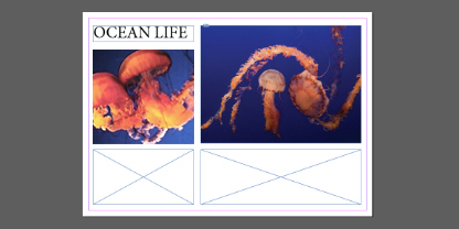 Use text and image elements to create inspired postcard designs