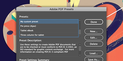 Use InDesign presets to create your postcard faster