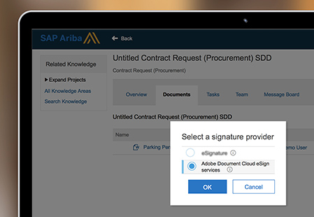 Adobe Sign dans SAP Ariba