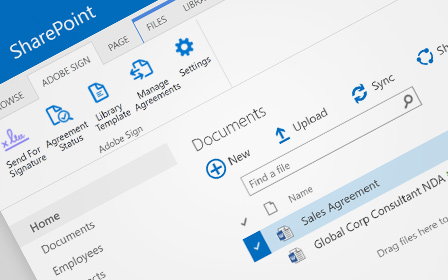 Microsoft SharePoint and Adobe Sign e-signatures