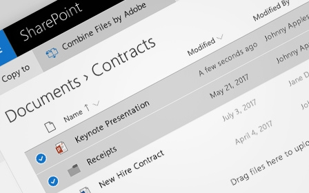 Microsoft SharePoint online PDF and e-signatures | Adobe