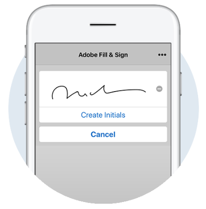 Use the sign documents app