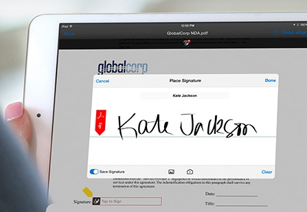 Give reps more time to sell with Adobe Sign.