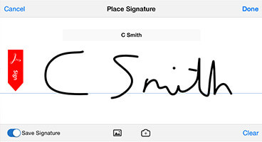 NEW Sync your signature.