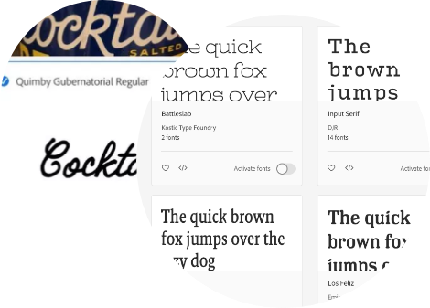 Find the perfect font every time.