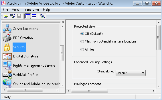 Adobe Customization Wizard for Adobe Reader and Acrobat 11