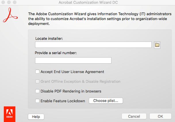 Adobe Customization Wizard Dc