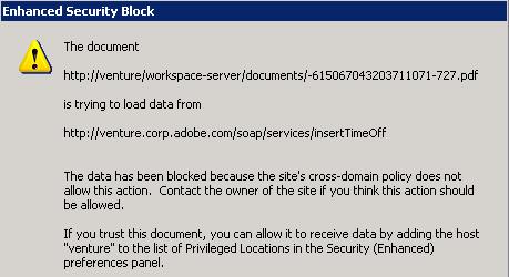 Cross Domain Configuration — Acrobat Application Security Guide
