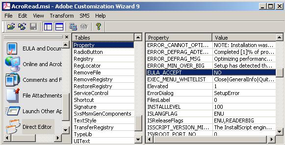 Adobe Properties — DC Windows Desktop Deployment