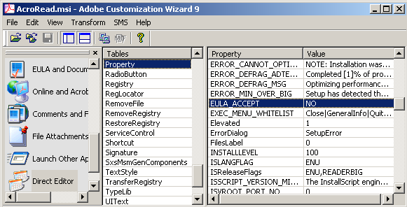 Adobe Properties — Acrobat Virtualization Guide