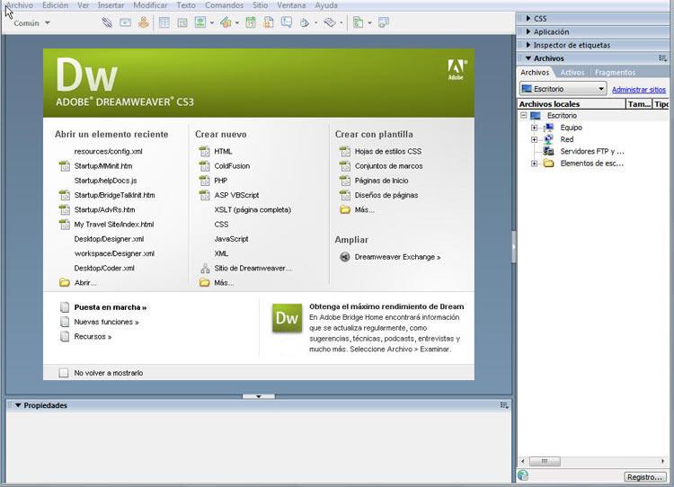 Cómo crear un sitio web con Adobe Dreamweaver CS3