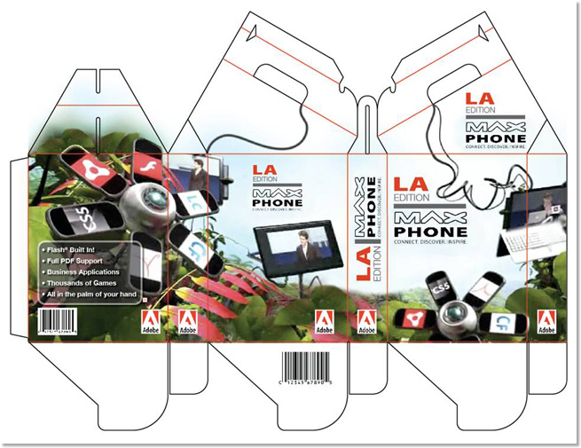 Mock packaging for MAX phone.